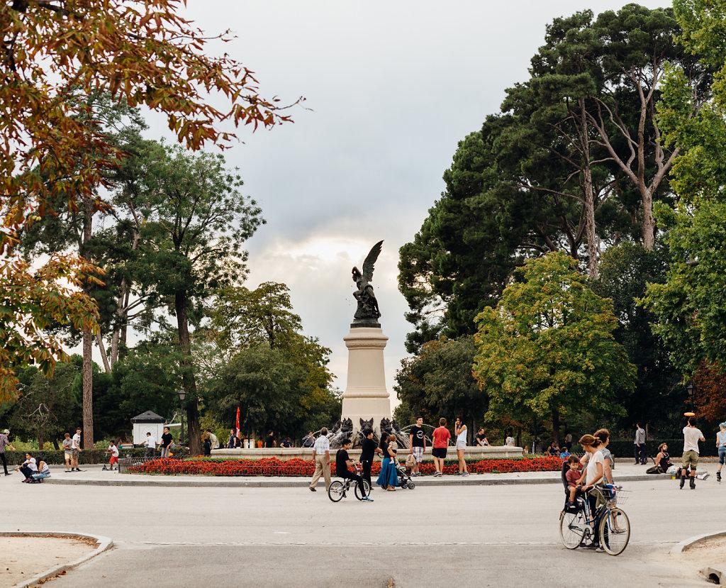 Glorieta del Ángel Caído, parque del Retiro