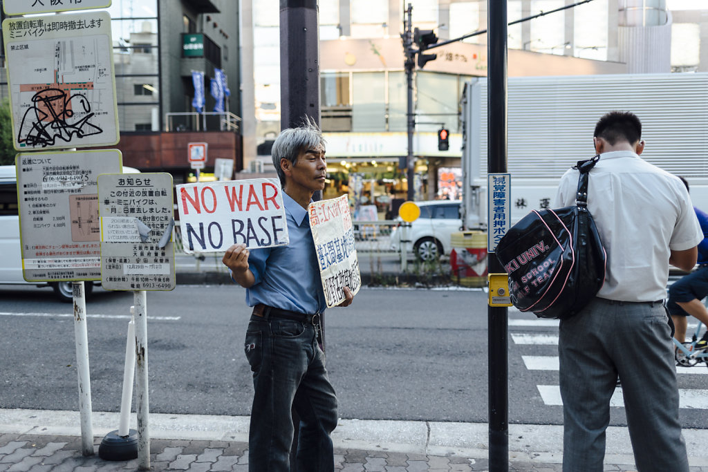 Demonstration against the Kadena Base of the United States of Am
